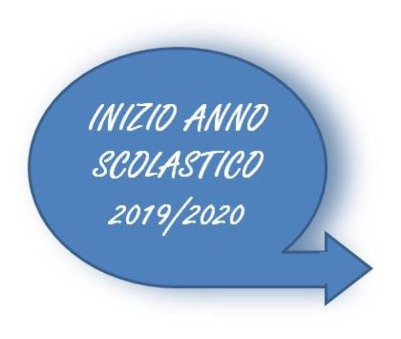 INIZIO ATTIVITÀ DIDATTICHE A.S.2019/2020