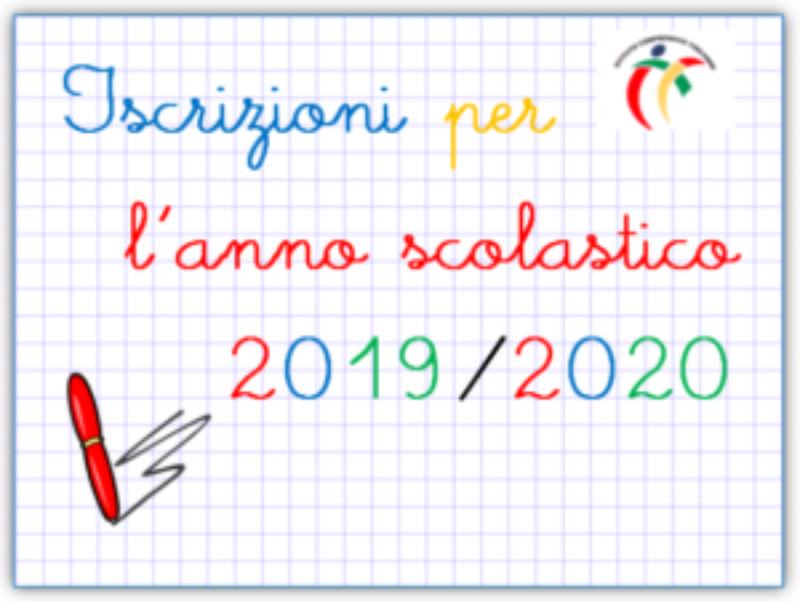 ISCRIZIONI ANNO SCOLASTICO 2019/2020 DAL 7 GENNAIO 2019 AL 31 GENNAIO 2019